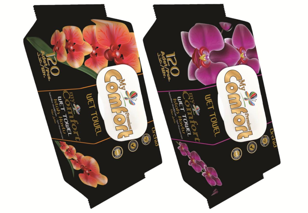 MCF.ORC.120 My Comfort nedves törlőkendő 120 db Orchidea illattal Alkoholmentes